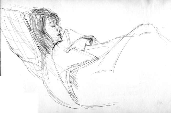 Life drawing of my wife. Michael Brugh, artist