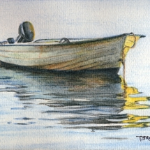 "Sunset Rest, a 5"" x 7"" mixed media painting by Michael Brugh. For sale: $49.00"