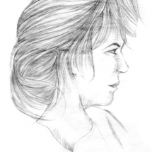 "365Project, DailySketch, Faye, ""Beloved,"" graphite"